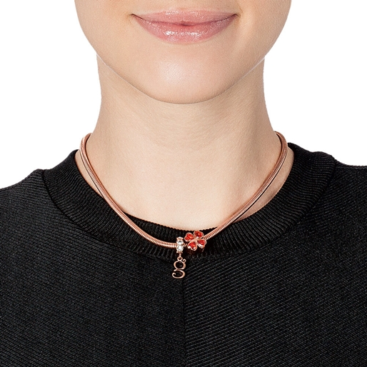 Playful Emotions Rose Gold Plated Desire Σετ Κολιέ-
