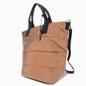 Metallic Puff Medium Tote Shoulder Bag -