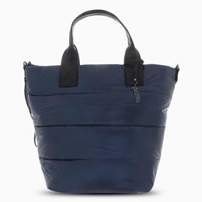 Metallic Puff Medium Tote Shoulder Bag-