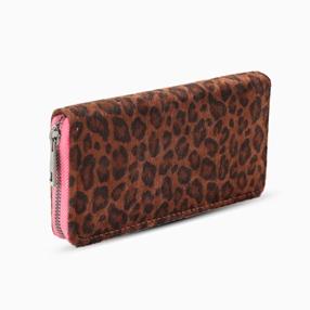 Mini Discoveries large faux fur zip around wallet-