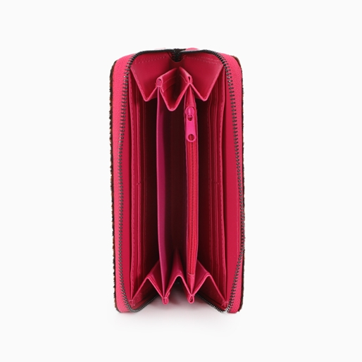 Mini Discoveries μεγάλο πορτοφόλι με φερμουάρ και faux γούνα-