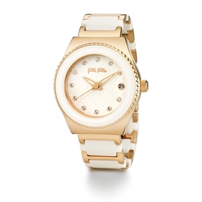 Palette Small Case Ceramic Bracelet Watch-