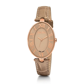 Romance Oval Case Leather Watch-