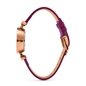 Mini Dynastry Rose Gold Plated Leather Watch -