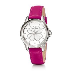 Heart4Heart Μεγάλη Κάσα Δερμάτινο Ρολόι-