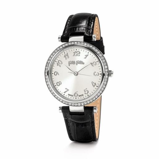 Classy Reflections Swiss Made Μεσαία Κάσα Δερμάτινο Ρολόι-