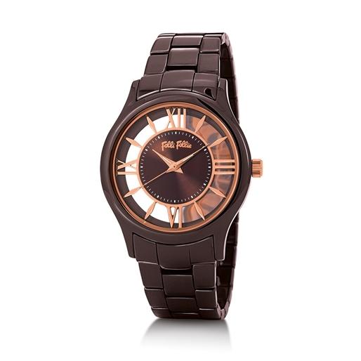 Time Illusion Big Case Ceramic Watch-