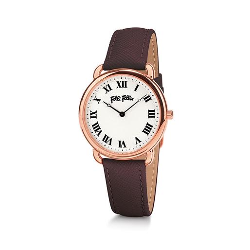 Perfect Match Μεσαία Κάσα Δερμάτινο Ρολόι-