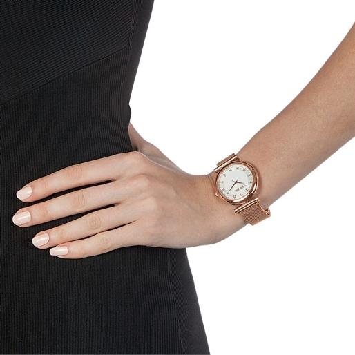 Sparkle Chic Big Case Bracelet Watch-