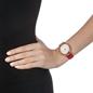 Sparkle Chic Swiss Made Μεγάλη Κάσα Δερμάτινο Ρολόι-