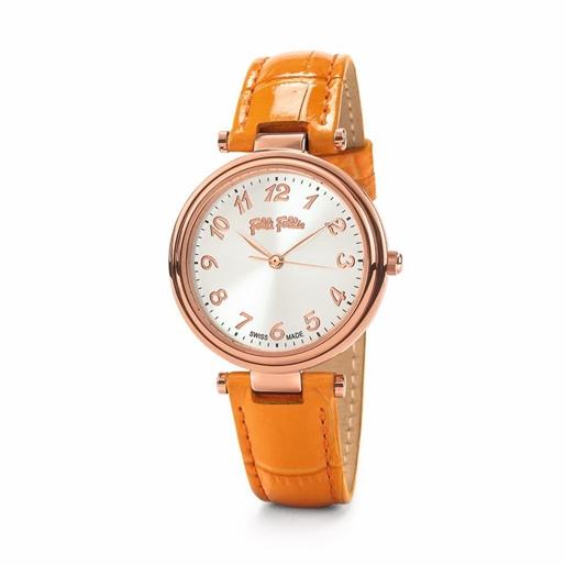 Classy Reflections Swiss Made Δερμάτινο Ρολόι-