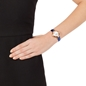Lady Bubble Rose Gold Plated Leather Watch -