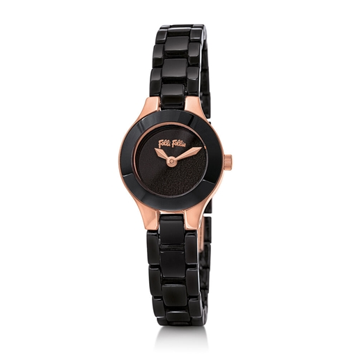 Miss FF Mini Case Ceramic Bracelet Watch-