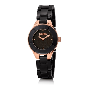 Miss FF Small Case Ceramic Bracelet Watch-
