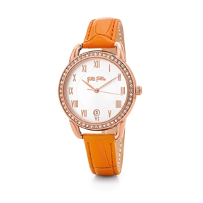 Vintage Candy Medium Case Leather Watch-