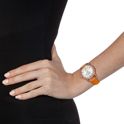 Vintage Candy Medium Case Leather Watch-