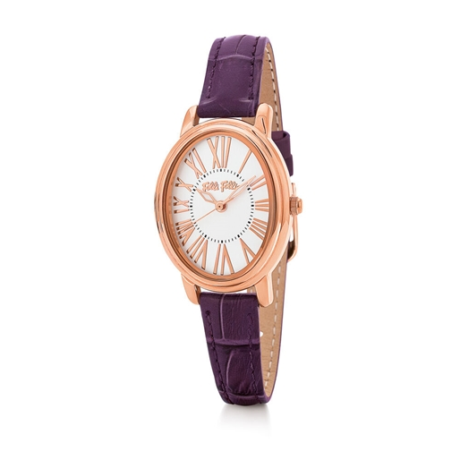 Urban Time Big Oval Case Leather Watch -