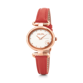 Miss Heart4Heart Extra Small Case Leather Watch-