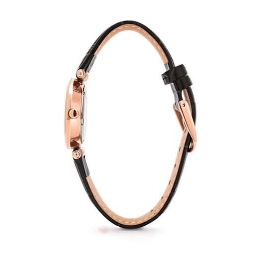 Lady Club Μικρή Κάσα Δερμάτινο Ρολόι-