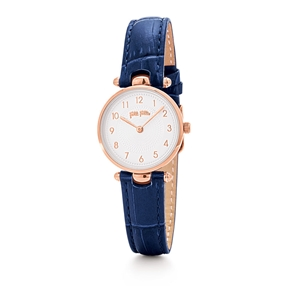 Lady Club Small Case Leather Watch-