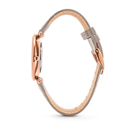 Lady Club Μεγάλη Κάσα Δερμάτινο Ρολόι-