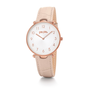 Lady Club Big Case Leather Watch-