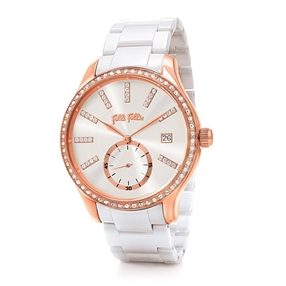 Style Bonding Big Case Ceramic Bracelet Watch-