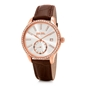 Style Bonding Big Case With Stones Leather Watch -