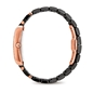 Style Swing Oblong Case With Stones Ceramic Bracelet Watch -