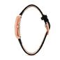 Style Swing Ορθογώνια Κάσα Με Πέτρες Δερμάτινο Ρολόι-