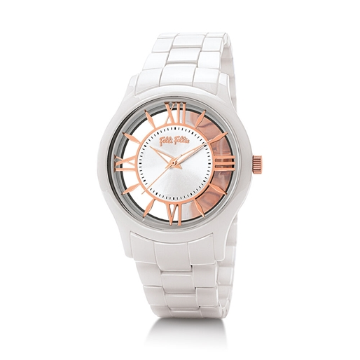 Time Illusion Medium Case Ceramic Watch-