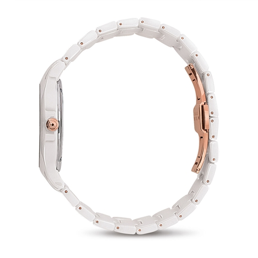 Time Illusion Medium Case Ceramic Watch -