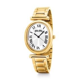 Metal Chic Oval Case Bracelet Watch-