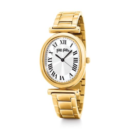 Metal Chic Oval Case Bracelet Watch -