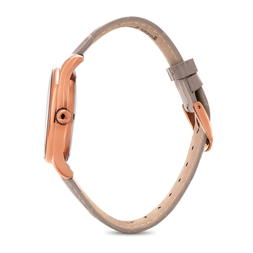 Style Bonding Μεγάλη Κάσα Δερμάτινο Ρολόι-