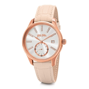 Style Bonding Big Case Leather Watch-