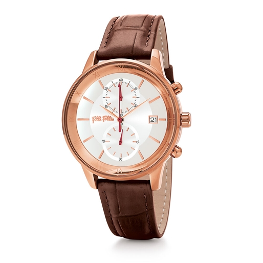 Big Moments Big Case Leather Watch -
