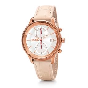 Big Moments Big Case Leather Watch-