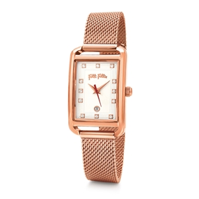 Style Swing Oblong Case Bracelet Watch-