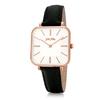 Timeless Bonds Medium Square Case Leather Watch