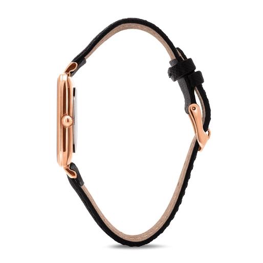 Timeless Bonds Medium Square Case Leather Watch -