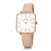 Timeless Bonds Medium Square Case Leather Watch