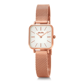 Timeless Bonds Small Square Case Bracelet Watch-