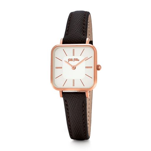 Timeless Bonds Small Square Case Leather Watch -
