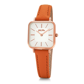 Timeless Bonds Small Square Case Leather Watch-