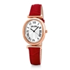 Metal Chic Oval Case Leather Watch