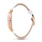Time Framed Μεγάλη Κεραμική Κάσα Δερμάτινο Ρολόι-