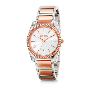 Chronos Tales Small Case Two Colours Bracelet Watch-