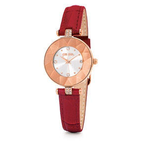 Chic and Sleek Small Case Leather Watch-