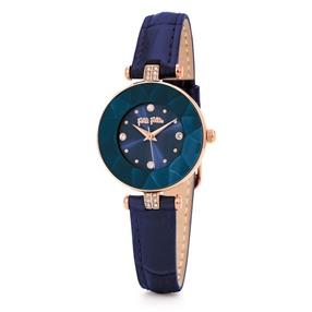 Chic & Sleek Small Case Leather Watch-